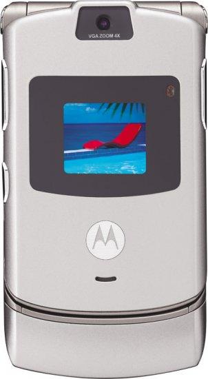 Motorola V3 Razr Silver