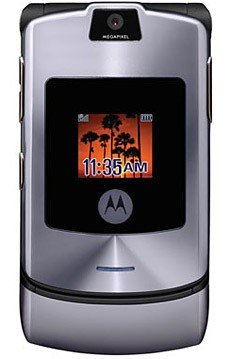 Motorola V3i RAZR 1.3 MegaPixel Cell Phone GSM Silver