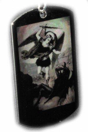 Michael the Archangel Custom Engraved Pendant