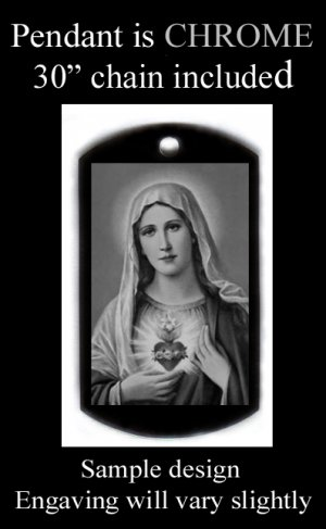 Blessed Mother Engraved Pendant With Free Custom Message