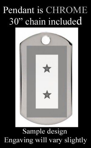 BLUE STAR MOTHERS Two Star With Custom Engraved Message