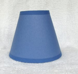 light royal blue paper mini chandelier lamp shade