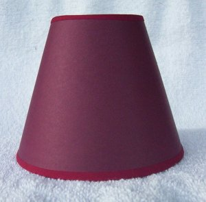 DK CRANBERRY/ RED TRIM Paper Mini Chandelier Lamp Shade