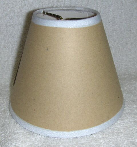 Adhesive Mini Chandelier Lamp Shade - use your fabric