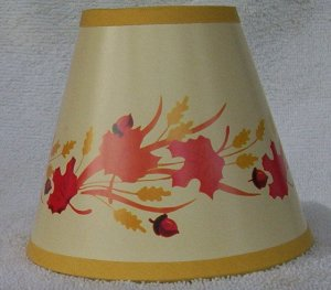 Fall Leaves Mini Paper Chandelier Lamp Shade