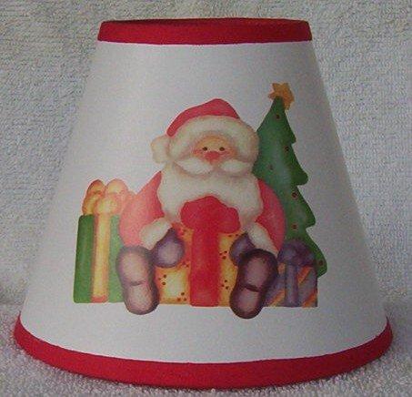 SANTA w/PRESENTS Mini Paper Chandelier Lamp Shade