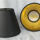 New BLACK W/GOLD Lined Mini Chandelier Lamp Shade