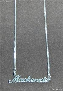 Sterling Silver Name Necklace - Name Plate - MACKENZIE