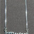 Sterling Silver Name Necklace - Name Plate - KRISTEN