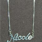 Sterling Silver Name Necklace - Name Plate - NICOLE