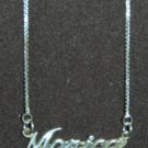 Sterling Silver Name Necklace - Name Plate - MONICA