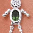 Sterling & CZ Birthstone Kids BOY Charm MAY