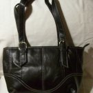 Genuine Leather Shoulder Bag/Handbag #95 BLACK