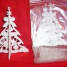 3 sets Glittered 3-D Plastic WHITE TREE Ornaments
