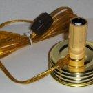 "2"" Drip Style Mason Jar Adapter Candelabra Size Bulb"