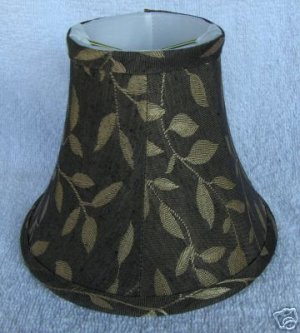 New BLACK w/ GOLD LEAVES Chandelier Mini Lamp Shade