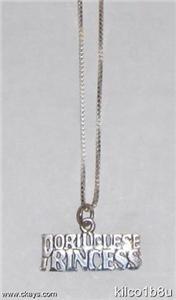 Sterling Silver Princess Necklace - PORTUGUESE PRINCESS