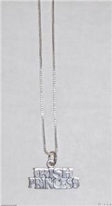 Sterling Silver Princess Necklace - IRISH PRINCESS
