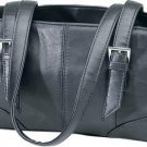 Genuine Leather Shoulder Bag/Handbag #92 BLACK
