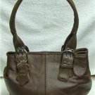 Genuine Leather BROWN Purse-Handbag-Shoulder Bag #3619