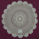 "New 18"" Medallion Design Ecru 100% Cotton Doily"