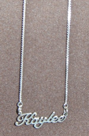 Sterling Silver Name Necklace - Name Plate - KAYLEE