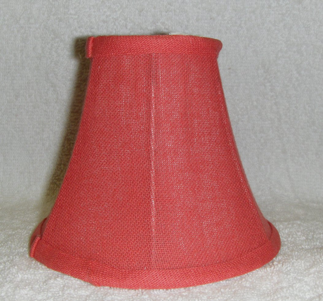 Pink/Salmon Textured Fabric Chandelier Lamp Shade