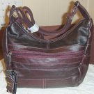 New Leather Shoulder Bag, Purse, Handbag 3001 - WINE