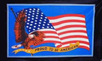 Proud to Be American Flag w/black border 3' x 5' Flag