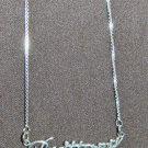 Sterling Silver Name Necklace - Name Plate - BRITTANY