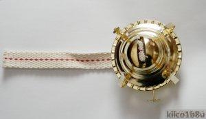 "Oil Lamp Burner-Brass Plated -w/wick Fits 1-3/4"" collar"