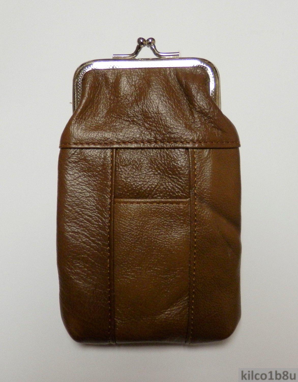 Genuine Leather Soft Cigarette Case - MEDIUM BROWN