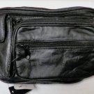 Genuine Lambskin Leather Fanny Pack - #3074 - BLACK