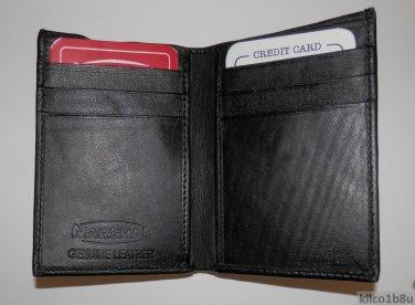 Genuine Leather Men's Bifold Wallet #71 BLACK