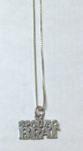 Sterling Silver Talking Necklace - SPOILED BRAT