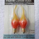 Orange / Yellow Wavy Tip 7 Watt Steady Burn Light Bulbs