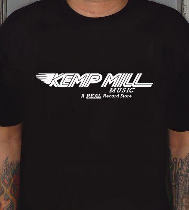 KEMP MILL MUSIC Premium Sueded T-shirt SIZE L 9:30 club poseurs penguin feather waxie maxie's