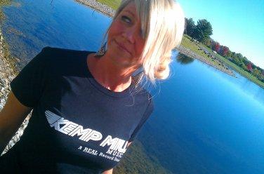 KEMP MILL RECORDS WOMENS T-Shirt - SIZE M poseurs penguin feather Washington D.C. 9:30 Club