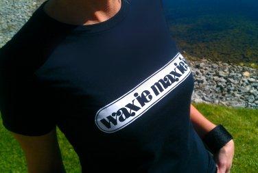 WAXIE MAXIES WOMENS T-Shirt - SIZE L poseurs penguin feather Washington D.C. 9:30 Club