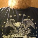 American Eagle Resistance Shirt - RESIST TRUMP FASCISM - Premium Sueded T Shirt SIZE M