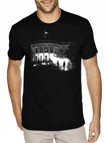 TRUMP WHITE HOUSE EXORCIST shirt - Premium Sueded T Shirt SIZE L