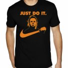 JUST DO IT. Michael Myers Halloween shirt - Premium Sueded T Shirt SIZE XL