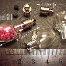 1 Mini Apple Glass Bottle Vial Charm Pendant DIY NAME ON RICE bead Message Crystal Liquid sand Flake