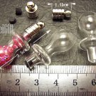 1 Pacifier Bottle Vial Charm Pendant DIY Personalized NAME ON RICE bead Message Crystal