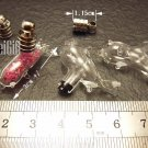 1 Dolphin(B) Mini Bottle Vial Charm Pendant DIY Personalized NAME ON RICE bead Message Crystal