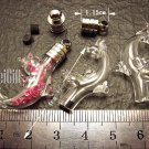 1 Dolphin(A) Mini Bottle Vial Charm Pendant DIY Personalized NAME ON RICE bead Message Crystal