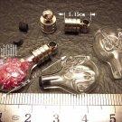 1 Capricornus Mini  Bottle Vial Charm Pendant DIY Personalized NAME ON RICE bead Message Crystal