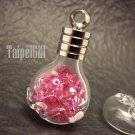 Swarovski Crystal Rose AB in Aquarius Astrology Bottle Vial Charm Pendant