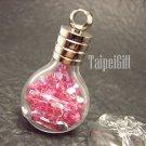 Swarovski Crystal Rose AB in Gemini Astrology Bottle Vial Charm Pendant