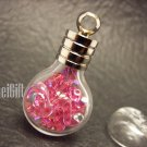 Swarovski Crystal Rose AB in Leo Astrology Bottle Vial Charm Pendant